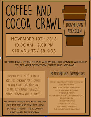 dont forgetget signed up for our coffee cocoa crawl